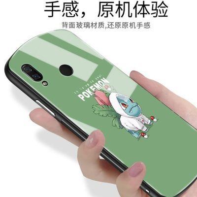 新款华为nova3手机壳玻璃男女款nova3i个性创意椭圆形保护套全包