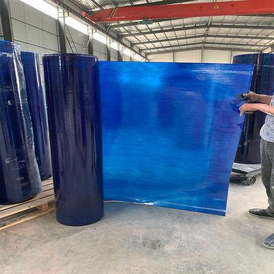 蓝色阳光板透明玻璃钢pc阳光板透明蓝色采光板平板遮阳雨棚采光瓦