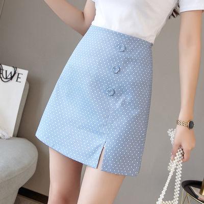 31557/高腰显瘦a字裙半身裙修身波点短裙女夏韩版时尚包臀裙短裤裙子女
