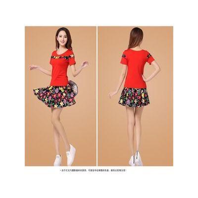 广场舞服装女套装新款春夏短袖成人舞蹈衣服裙裤跳舞演出服
