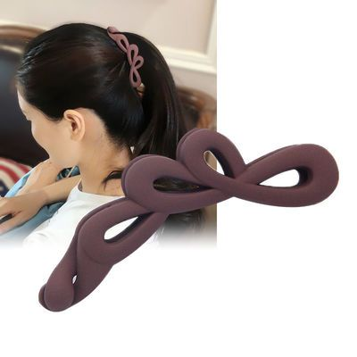 新款简约香蕉夹磨砂韩国发夹成人竖夹带齿夹子发卡子盘发女马尾夹
