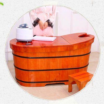 香柏木洗澡桶成人浴桶泡澡木桶加厚家用浴缸木质浴桶橡木桶