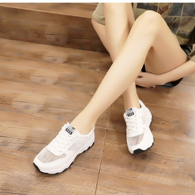 鞋子女春夏季女士鞋白色休闲跑步运动鞋女透气初中学生小白鞋女