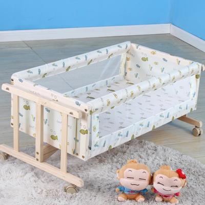 小孩床宝宝床双层婴儿床实木摇篮床无漆童床儿童床新生儿小木床