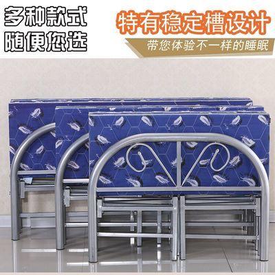 加固折叠床简易木板床午休办公室家用单人双人床出租房成人铁床
