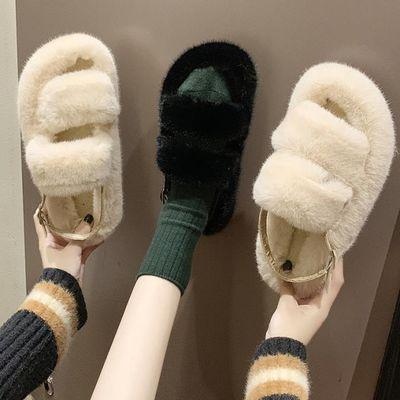 百搭外穿女鞋拖鞋毛毛拖流行女鞋毛拖鞋新款拖鞋夏凉拖仙女风夏季