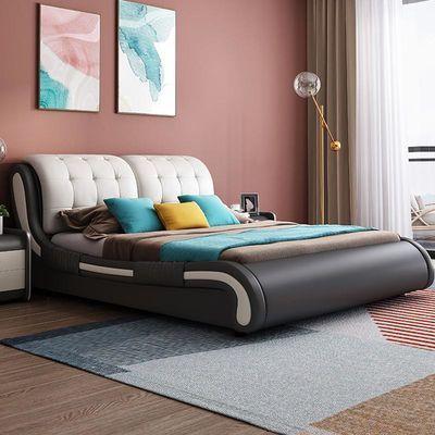 皮床 双人床真皮 软体床软体1.8米床双人床1.5米真皮床卧室2人床