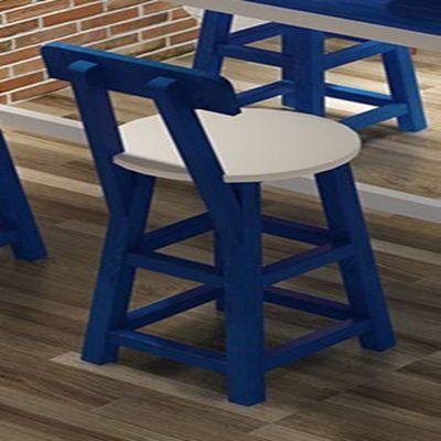 地中海实木小吧台桌简约家用阳台客厅奶茶店靠墙隔断长条高脚桌椅