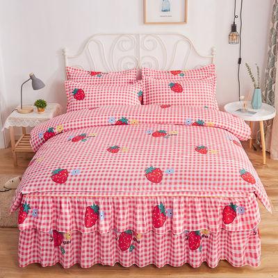 【亏本冲量】俞兆林 韩版公主风床裙四件套 双人床罩被套床单被罩