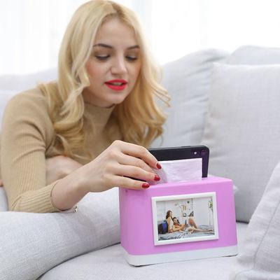 2019新款多功能纸巾盒手机支架相框蓝牙音箱抽纸盒家用时尚纸抽盒