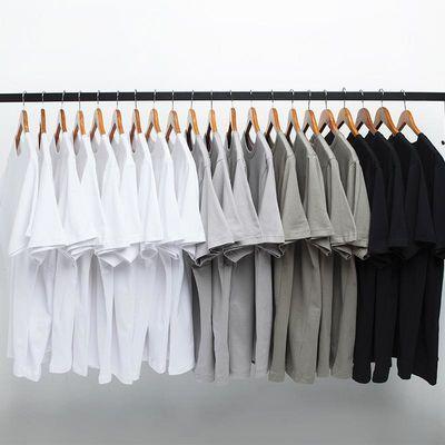 2020夏装日系潮牌简约纯色打底T恤半袖男女情侣基本款TEE夏季短