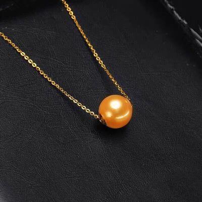 天然珍珠 金珠 大溪地珍珠 淡水珍珠 路路通珍珠项链带链子锁骨链
