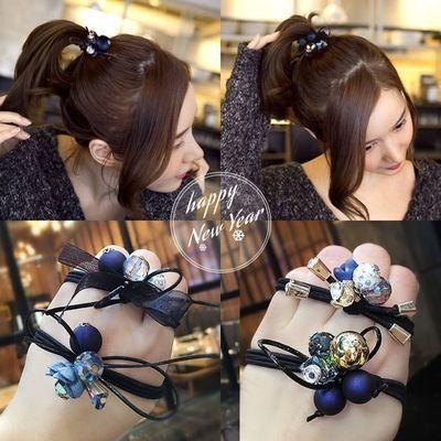 头绳扎马尾头饰森女橡皮筋韩国简约发圈扎头发皮筋海之蓝发饰女生
