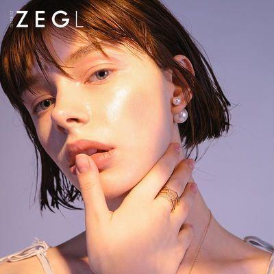 925银饰珍珠耳钉 女大小双面耳环韩国日韩版时尚气质前后耳饰品