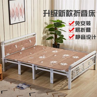 折叠床午休床双人床单人简易床板式硬板床出租房办公室铁床陪护床