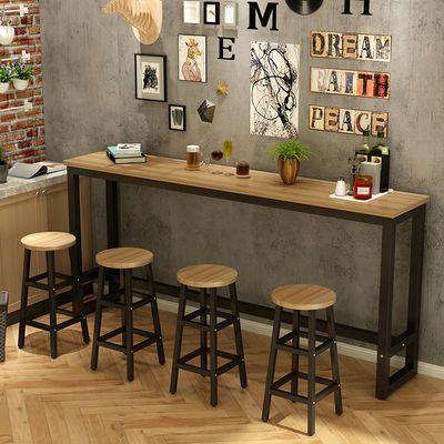 家用吧台桌客厅简约隔断简易小吧台组合咖啡高脚桌奶茶店吧台桌子