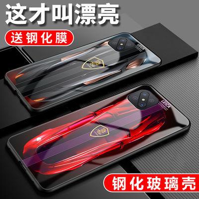 oppoA92s手机壳保时捷oppoA92s钢化玻璃A92s防摔个性男车标保护套
