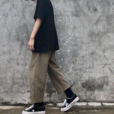 INSstudios.20ss韩国ins复古日系街头百搭工装裤直筒休闲裤男女潮