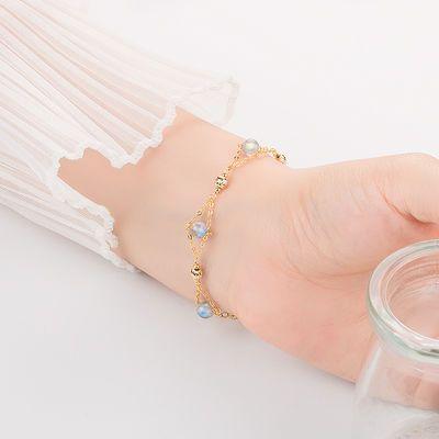 天然月光石手链女学生简约韩版水晶冰种转运闺蜜ins小众设计手串