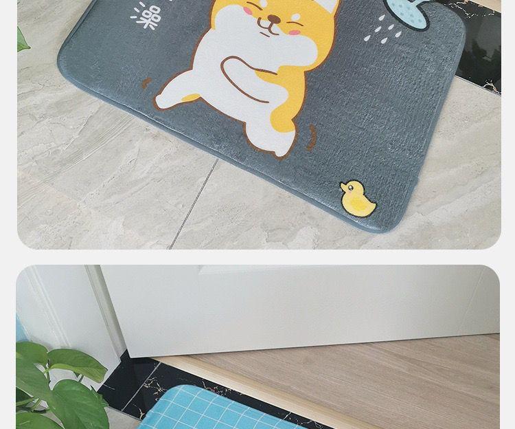 【浴室吸水地垫】卡通入户门垫脚垫卧室卫生间防滑地垫宠物垫可机洗