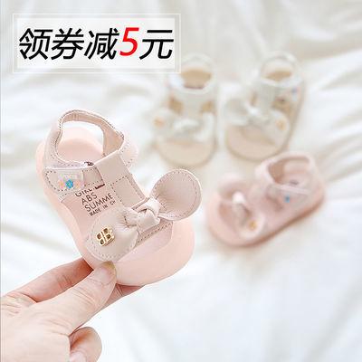 婴儿鞋子6-10个月学步鞋幼儿软底防滑夏天女宝宝凉鞋包头公主女宝