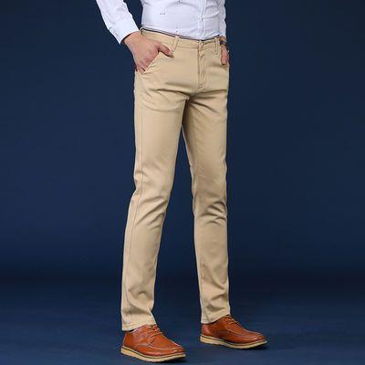 爆款春夏韩版男装弹力休闲裤男士商务西裤宽松黑色青年直筒修身长