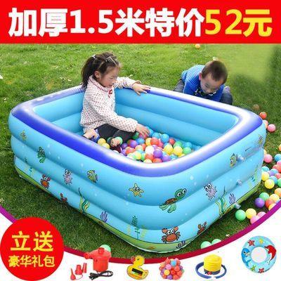 超大号儿童充气游泳池加厚折叠成人浴缸浴盆婴儿洗澡盆家用洗澡桶