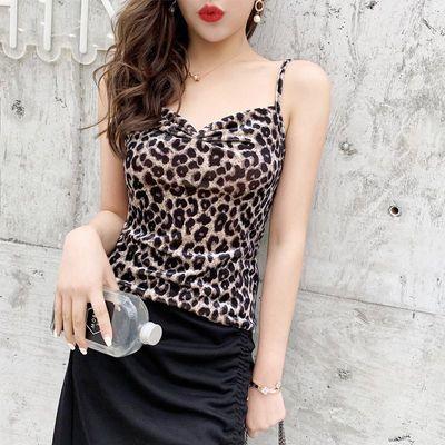 2020豹纹小吊带背心女春夏季内搭外穿短款打底衫无袖性感洋气上衣
