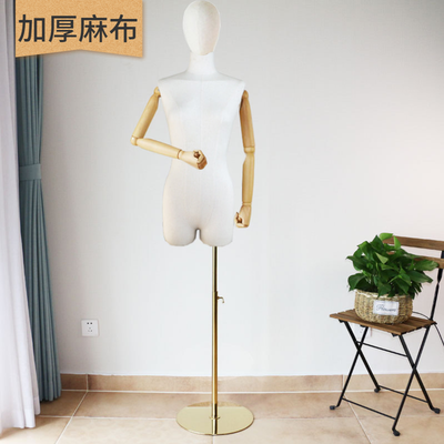 服装店女模特道具半身韩版半身女模特架橱窗婚纱展示模特架锁骨模
