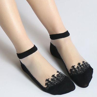 3/10双船袜女丝袜短袜韩版春夏款短袜玻璃丝袜浅口可爱学生袜子女