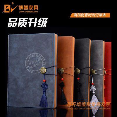 复古风文艺红色记事本子手账本中国结纪念册可小批量定制中国风