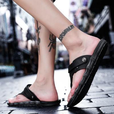 凉拖鞋男夏季人字拖男防滑家用外穿秋冬凉鞋男韩版潮流社会沙滩鞋