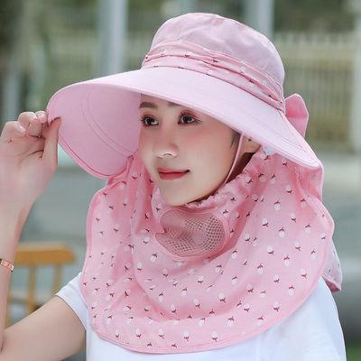 帽子女夏季太阳帽骑车防晒采茶帽可折叠大帽檐防紫外线遮阳帽夏天
