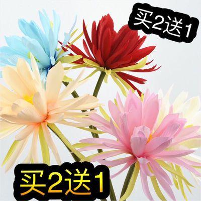 仿真花昙花中式古风拍摄汉服手持花莲花荷花婚庆礼堂装饰绢花假花
