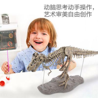 大型仿真霸王龙骨架模型侏罗纪礼品拼装骨骼化石装饰摆件考古教学