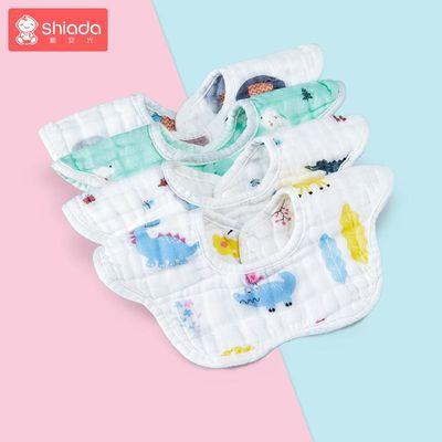 新生宝宝防吐奶纯棉口水巾婴儿 防水围嘴围兜360度可旋转夏季薄款