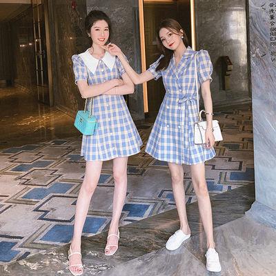 【提前加购】5.11新品8折包邮 复古文艺格纹连衣裙