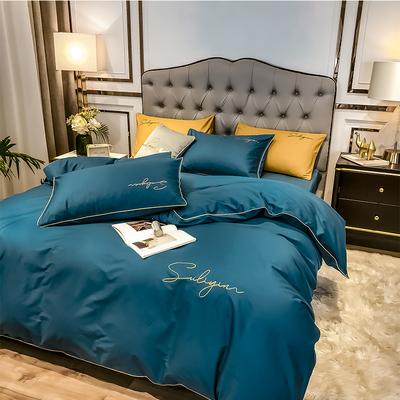 百分百全棉四件套纯棉刺绣单双人1.5m1.8m2.0m床单被套床上用品