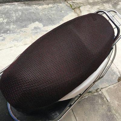 夏季雅迪电动车摩托车坐垫套防水防晒隔热网电瓶座垫踏板车防晒罩