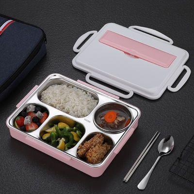 大号304不锈钢饭盒学生分隔保温饭盒食堂防烫餐盒成人便携便当盒