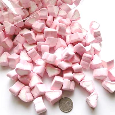 棉花糖粉色爱心心形糖蛋糕装饰点缀咖啡伴侣结婚软喜糖少女心糖果