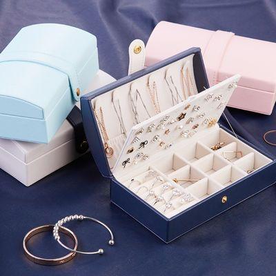 耳钉首饰盒子收纳盒大容量少女心项链戒指中国风首饰饰品盒收纳盒