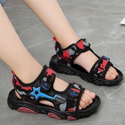男童凉鞋2020夏季新款儿童凉鞋迷彩韩版学生鞋小孩子沙滩鞋中大童
