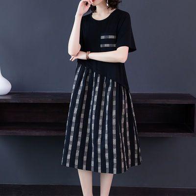 2020年新款夏装高端大码女装连衣裙胖mm洋气200斤宽松显瘦裙子潮
