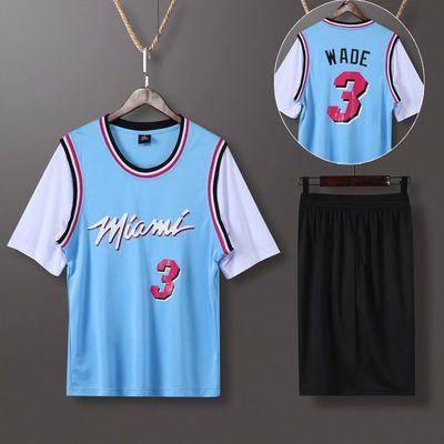 湖人詹姆斯23号科比24号球衣情侣篮球服男女套装街头潮流假两件