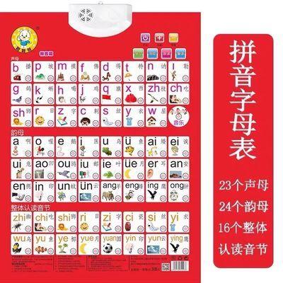 拼音有声点读挂图声母韵母字母表小学一年级认知卡片幼儿看图识字