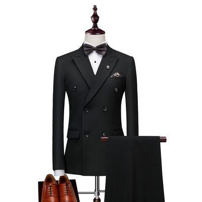 四季款西服西裤西装男套装商务正装休闲伴郎新郎结婚礼服三件套