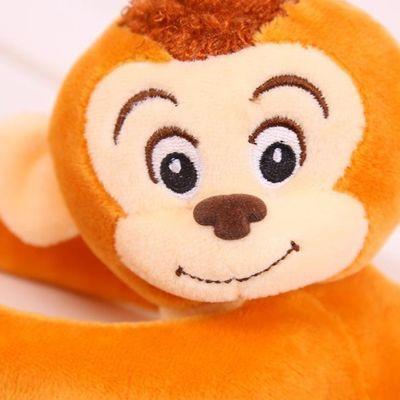 毛绒玩具动物猴子公仔男女孩儿童防撞头布娃娃卡通可爱窗帘猴玩偶