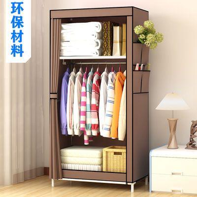 简易衣柜布衣柜出租房宿舍卧室挂衣钢管加固加粗大容量收纳柜家用