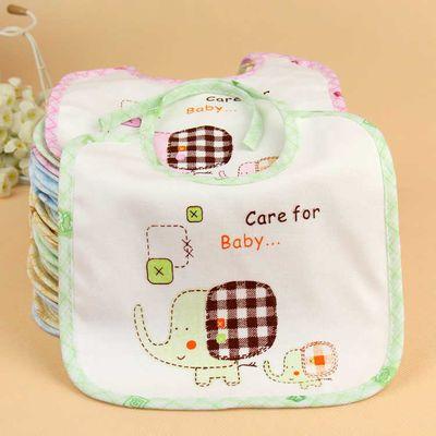 新生婴儿口水巾系带围嘴饭兜宝宝口水兜纯棉防水围兜喂奶巾0-2岁